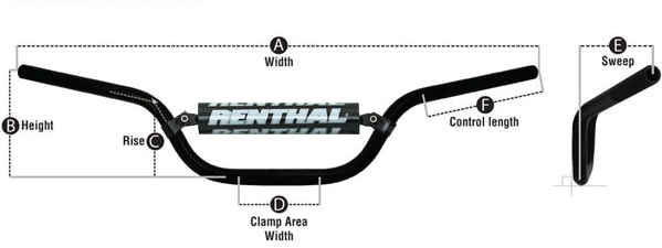 Bike Parts Handlebars Dirt Bike Handlebar Dimensions