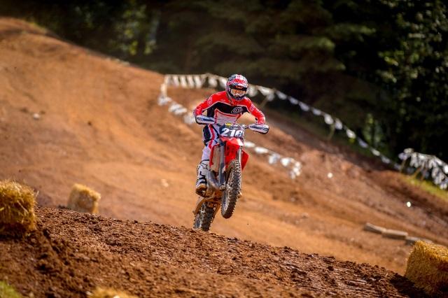 Motocross track jumps
